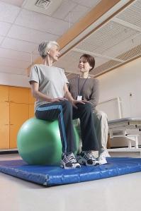 19175322 elderly woman exercising