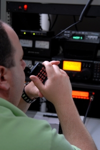 Man Operating Ham Radio