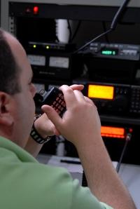 Man Operating Ham Radio